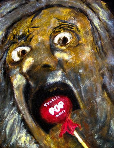 Goya Pop - How Many Licks? - Oil Painting
